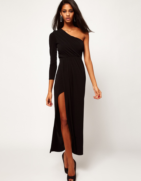asos-petite-exclusive-black-maxi-dress-with-one-shoulder-and-split-skirt