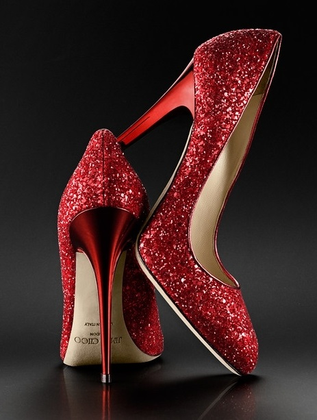 Jimmy-Choo-Red-Glitter-Shoes-For-Women