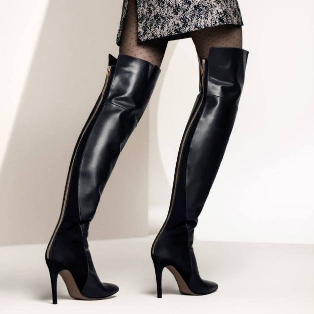 Hugo-Boss-is-Foot-Wear-fall-collection-2013-for-men-and-women-Leather-ankle-boot-monk-shoe-T-Strap-Heels-3