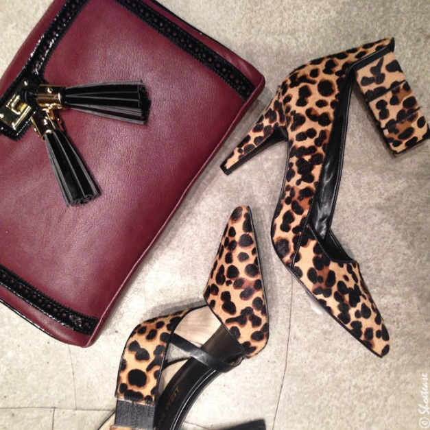 Nine-West-Fall-Winter-2014-Collection-Toronto-Preview-Maroon-Purse-+-Leopard-Print-Heels
