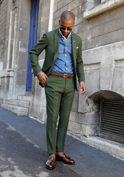olive-green-suit
