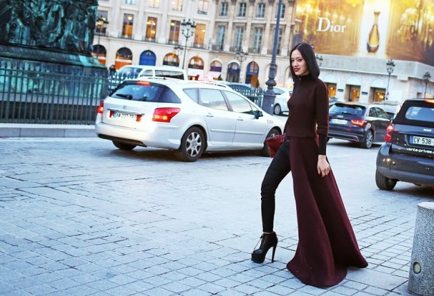 Tiffany Hsu Street Style of Fashion Week Fall 2014
